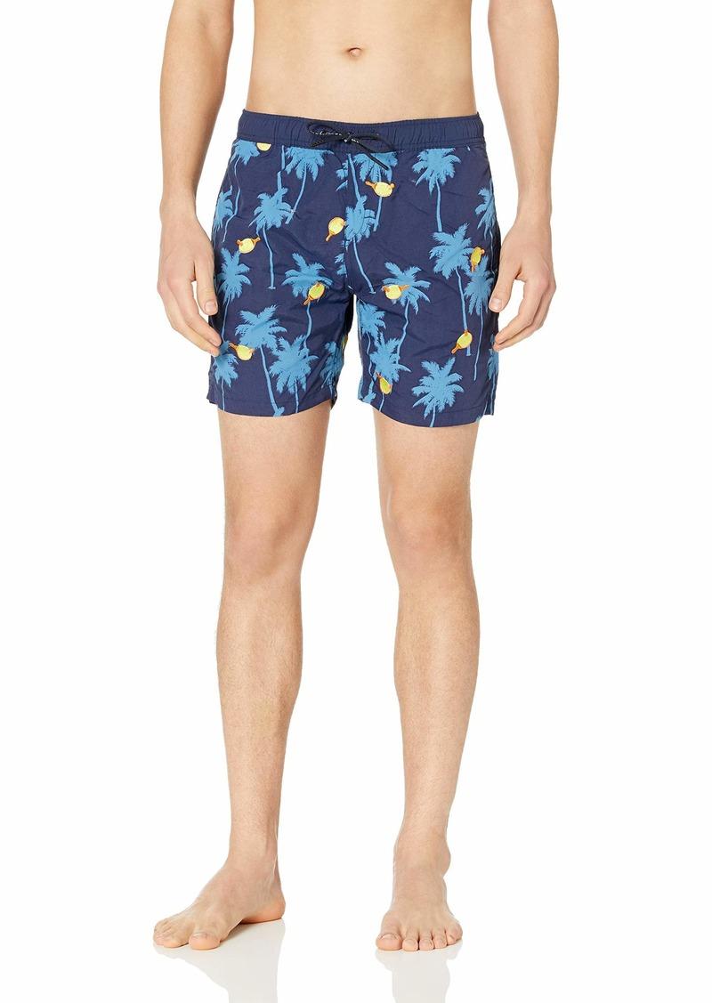 Scotch & Soda Men's Mini Embroidery Swim Shorts  XL