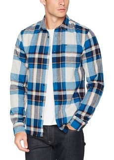 Scotch & Soda Men's Multi-Colour Checked Shirt in Brushed Flannel Quality Combo b L