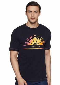 Scotch & Soda Men's Multicolour Artwork T-Shirt  M