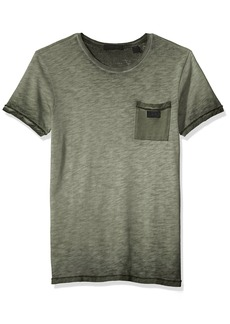 Scotch & Soda Men's Oil-Washed Tee with Cut & Sewn Styling  L