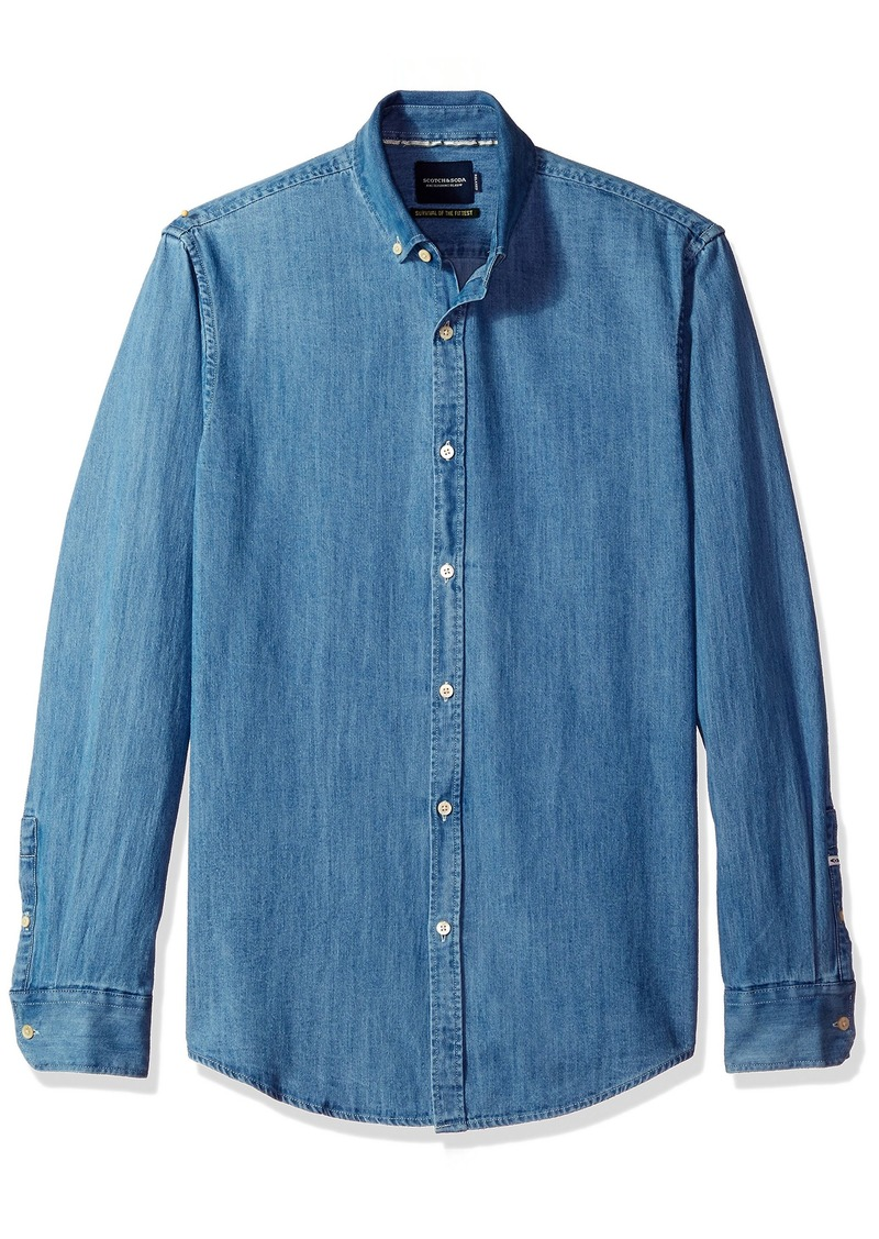 Scotch & Soda Men's Oversized Clean Look Denim Shirt