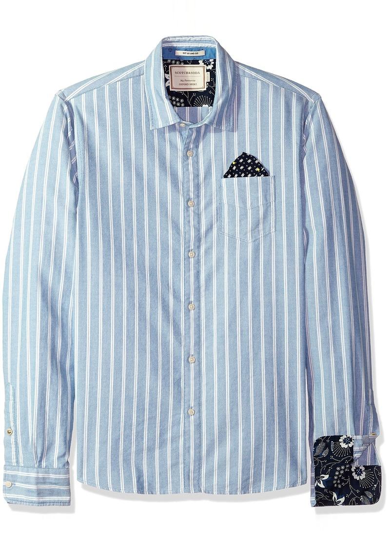 Scotch & Soda Men's Oxford Shirt with Chestpocket and Detachable Pochet  M