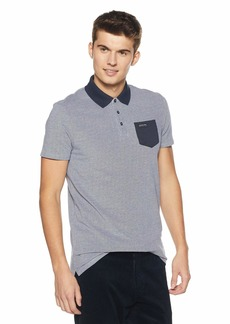 Scotch & Soda Men's Polo in Two-Tone Pique Quality with Contrast Chest Pocket  L