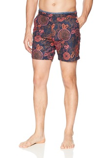 Scotch & Soda Men's Printed Melange Swim Short with Cut & Sewn Waistband Combo dye XL