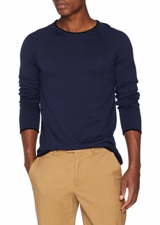 Scotch & Soda Men's Pullover in Cashmere Blend Quality with Contrast Rolled Hem  XXL