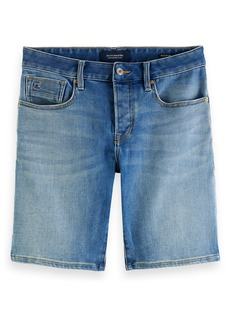 Scotch & Soda Men's Ralston Slim Fit Denim Walking Shorts (Fast Mover)