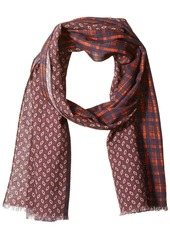 Scotch & Soda Men's Scarf with All-Over Printed Mix and Match Patterns  OS