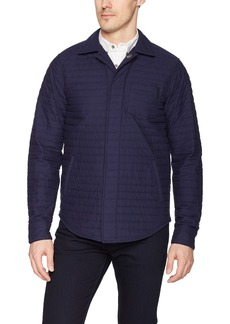 Scotch & Soda Men's Shirt Jacket in Quilted Cotton with Reflective Details  S