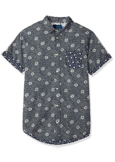 Scotch & Soda Men's Shortsleeve Shirt with Mix & Match Prints  S
