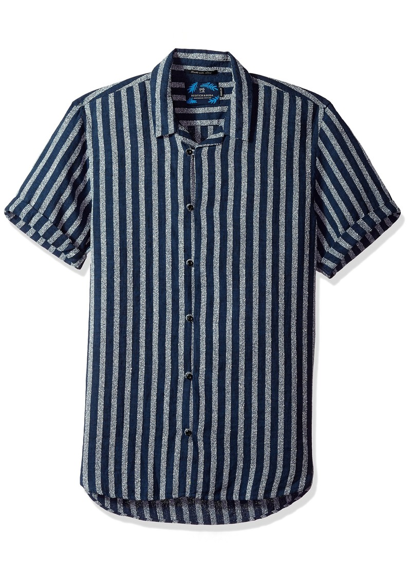 Scotch & Soda Men's Shortsleeve Structured Shirt Combo dye M