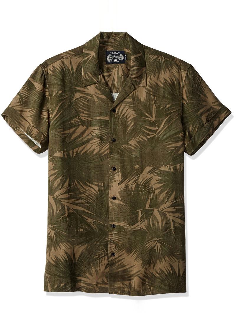 Scotch & Soda Men's Shortsleeve Tencel Shirt with Hawaii Collar  XXL