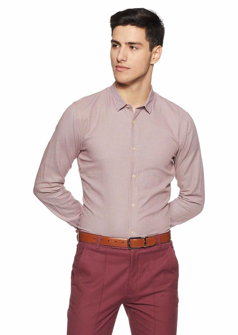 Scotch & Soda Men's Slim Fit Classic Shirt in Structured Weave Combo c M