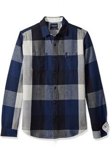 Scotch & Soda Men's Summery Chunky Shirt in Checks & Stripes in Broken Twill Qua  L