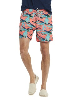 Scotch & Soda Men's Swim Short in Polyester Quality with All-Over Print and Cont