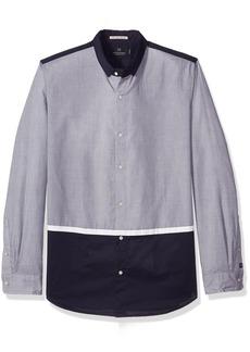 Scotch & Soda Men's Technical Colour Block Shirt  XL
