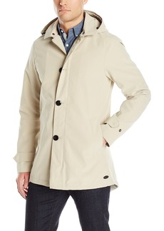 Scotch & Soda Men's Trench Coat in Bonded Quality with Detachable Hood and Parka