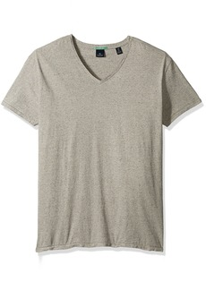 Scotch & Soda Men's V-Neck Tee In Jersey Melange Quality With Neps