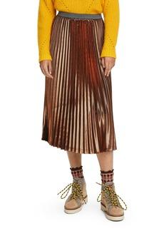 Scotch & Soda Metallic Pleated Midi Skirt