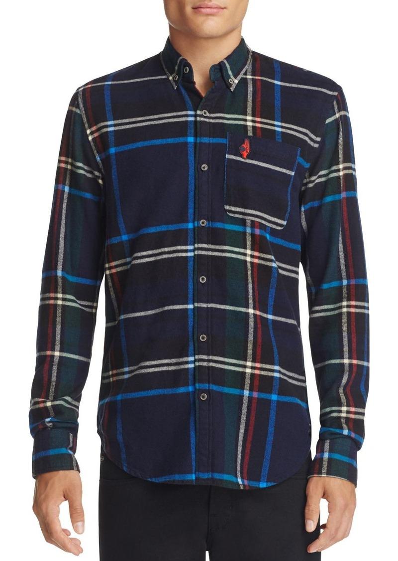 Scotch & Soda Night Plaid Slim Fit Button-Down Shirt