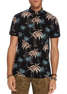 Scotch & Soda Palm Print Polo Shirt