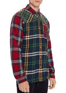 Scotch & Soda Patchwork Check Regular Fit Shirt