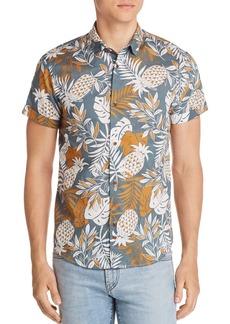 Scotch & Soda Pineapple-Print Short-Sleeve Shirt
