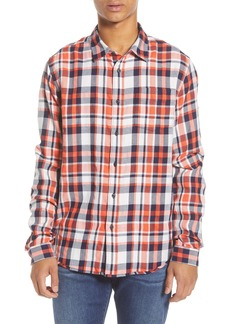 Scotch & Soda Plaid Button-Up Flannel Shirt