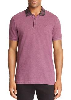 Scotch & Soda Plaid-Collar Regular Fit Polo Shirt