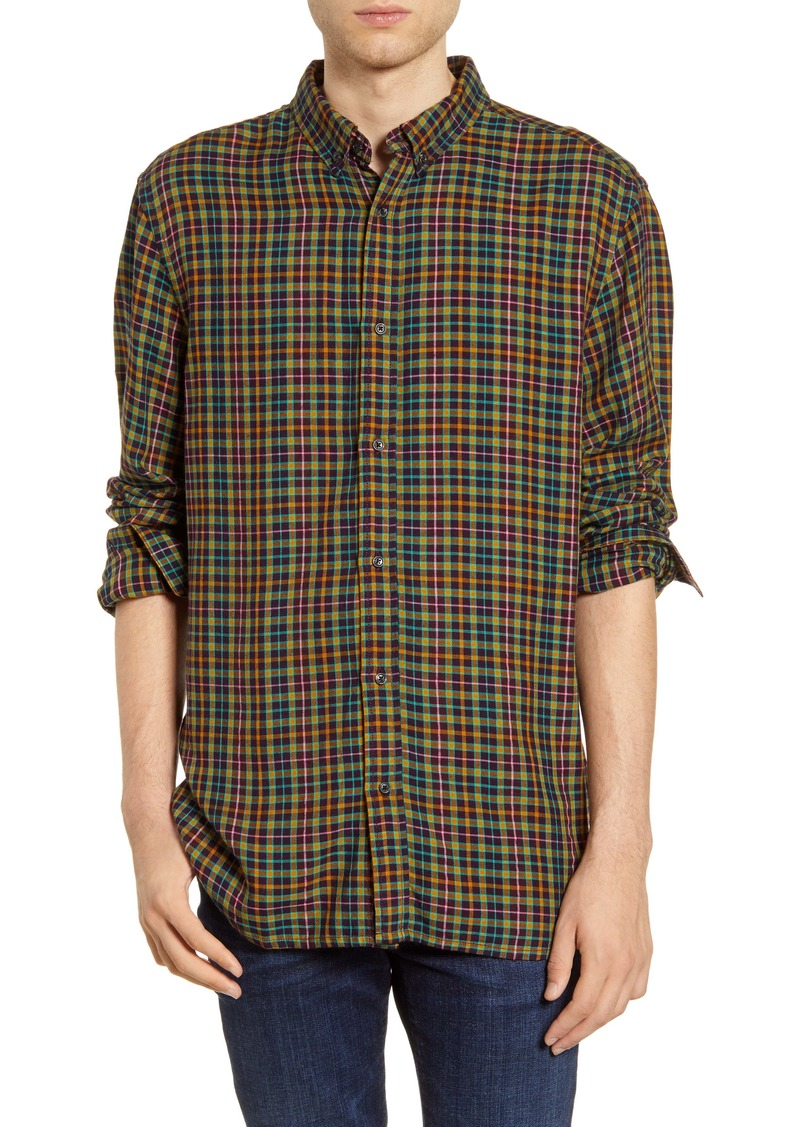 Scotch & Soda Plaid Flannel Button-Down Shirt