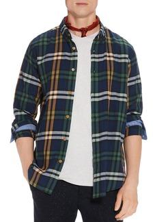Scotch & Soda Plaid Regular Fit Button-Down Shirt