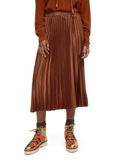 Scotch & Soda Pleated Midi Skirt