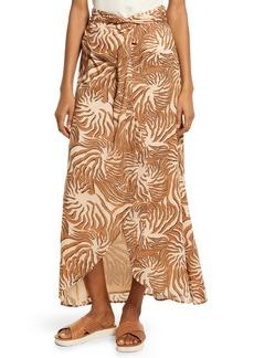 Scotch & Soda Print Organic Cotton Faux Wrap Skirt