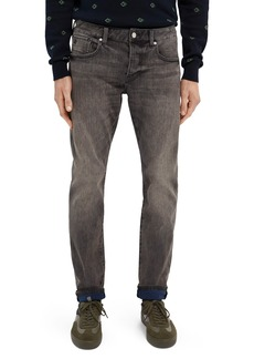 Scotch & Soda Ralston Slim Straight Leg Jeans (Black on Blue)
