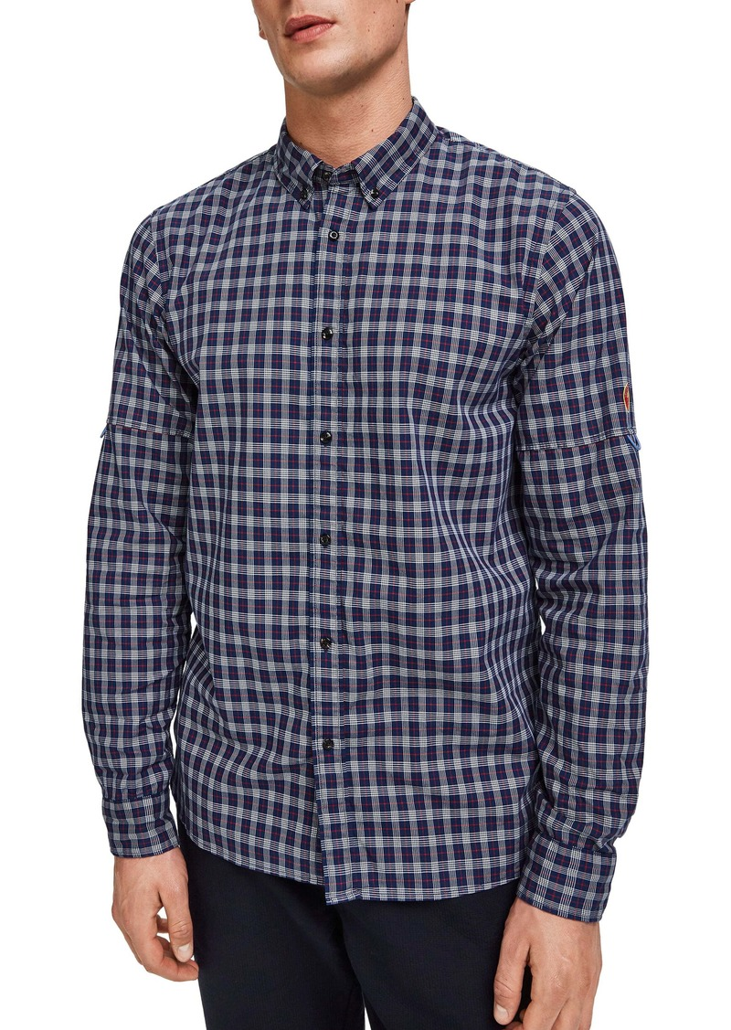 Scotch & Soda Regular Fit Check Button-Down Shirt