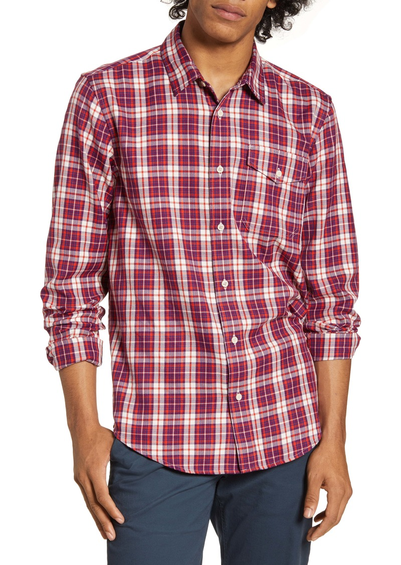 Scotch & Soda Regular Fit Check Print Button-Up Shirt