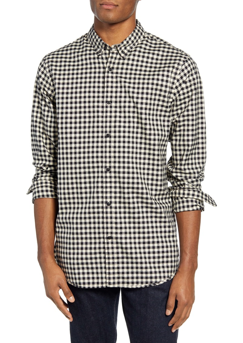 Scotch & Soda Regular Fit Dobby Check Button-Down Shirt