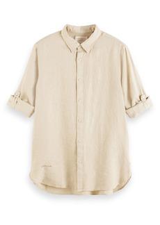 Scotch & Soda Regular Fit Linen Button-Up Shirt