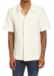 Scotch & Soda Regular Fit Short Sleeve Men's Seersucker Button-Up Shirt