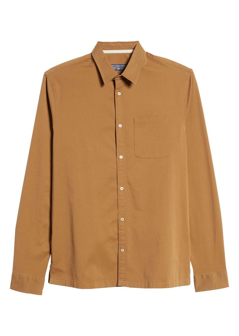 Scotch & Soda Regular Fit Stretch Twill Button-Up Shirt