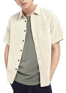 Scotch & Soda Relaxed Fit Cotton Blend Button-Up Shirt