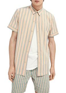 Scotch & Soda Relaxed Fit Short Sleeve Button-Up Shirt