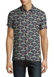 Scotch & Soda Short-Sleeve Button-Down Shirt