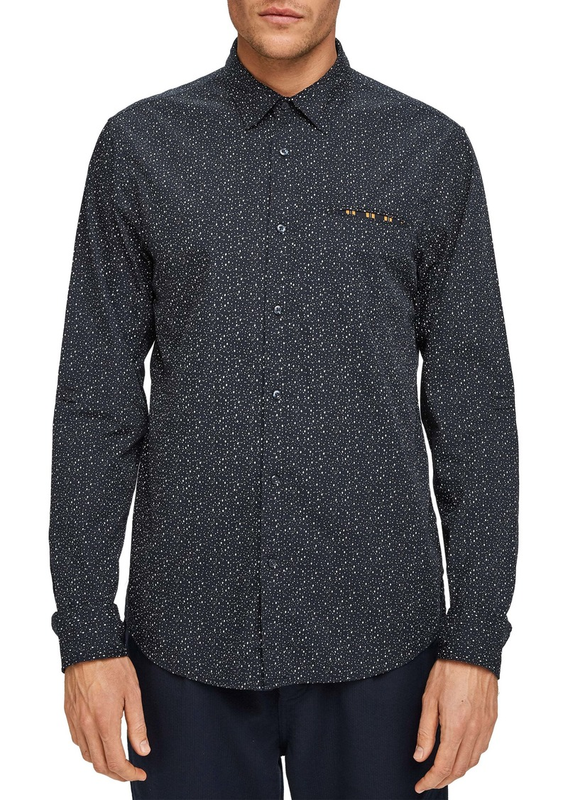 Scotch & Soda Slim Fit Button-Up Pocket Shirt