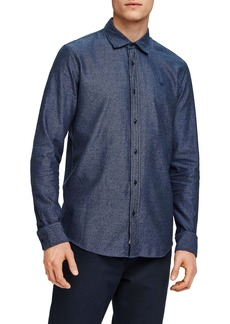 Scotch & Soda Slim Fit Chambray Button Up Shirt