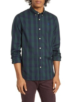 Scotch & Soda Slim Fit Check Button-Down Shirt