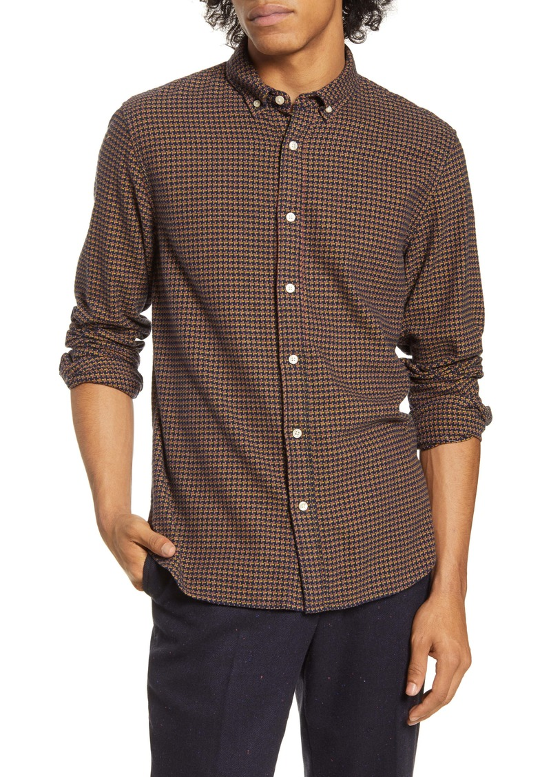 Scotch & Soda Slim Fit Print Button-Down Shirt