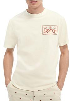Scotch & Soda Sophisticated Artwork Logo Graphic Tee