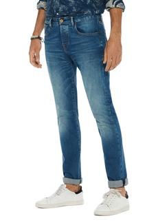 Scotch & Soda Stretch Slim Straight Fit Jeans in Blue
