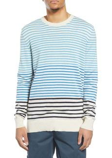 Scotch & Soda Stripe Longline Crewneck Sweater