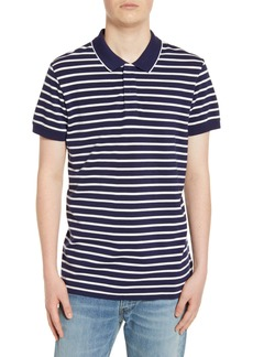 Scotch & Soda Stripe Piqué Polo